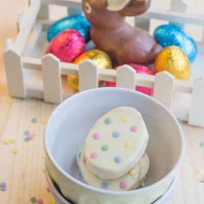 White Chocolate Peanut Butter Fudge for Easter