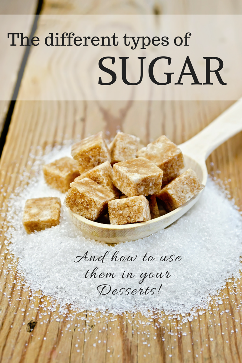 Different types of Sugar and How you can use them in your Desserts! Article by FlavoursandFrosting.com
