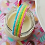 These rainbow drinking jars are perfect for kids