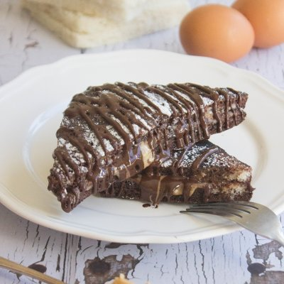 Chocolate French Toast with Peanut Butter