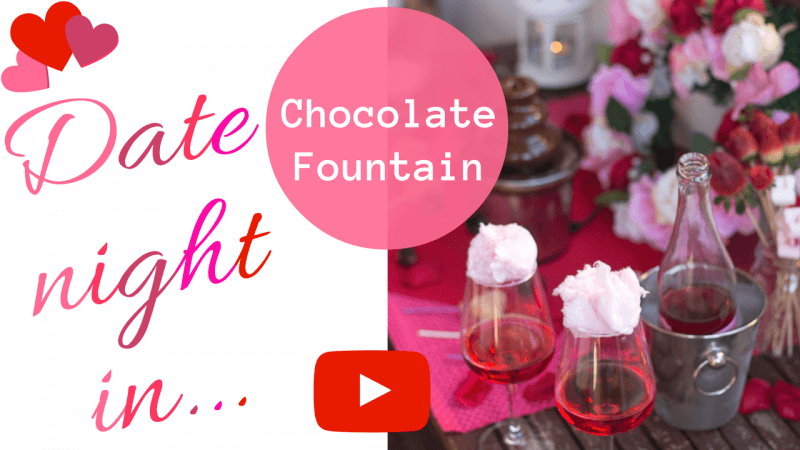 Video Tutorial - DIY Date Night In at Home for Valentines Day or any other romantic celebration!