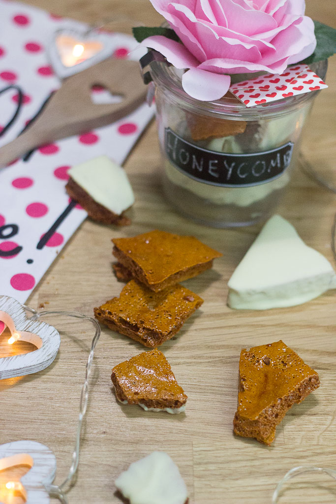 Easy Valentine Treats | Honeycomb Recipe | Crunchies Chocolate Bar