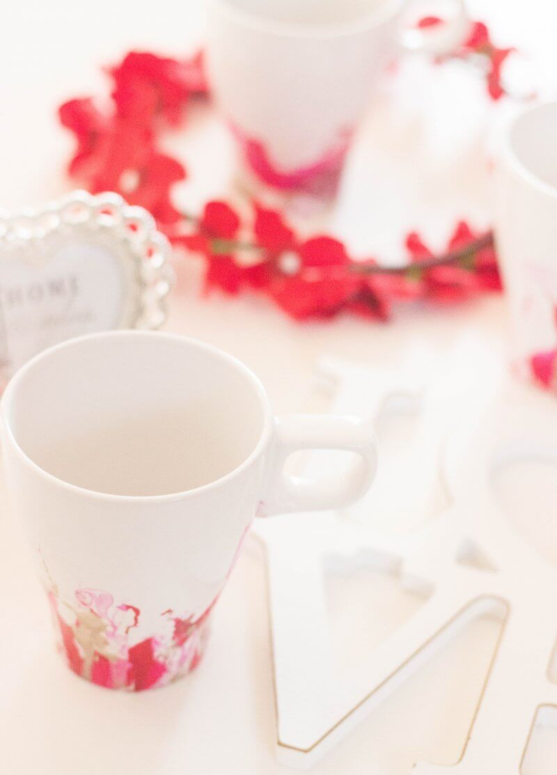 Nail Polish Mugs for Valentine´s Day!