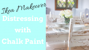 Distressing with Chalk Paint | Table and Chairs Makeover