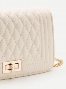 Quilted Flap Crossbody Bag With Chain