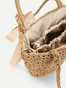 SHOP MY INSTAGRAM Bow Decorated Straw Bag