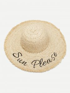 SHOP MY INSTAGRAM Embroidered Letter Straw Hat