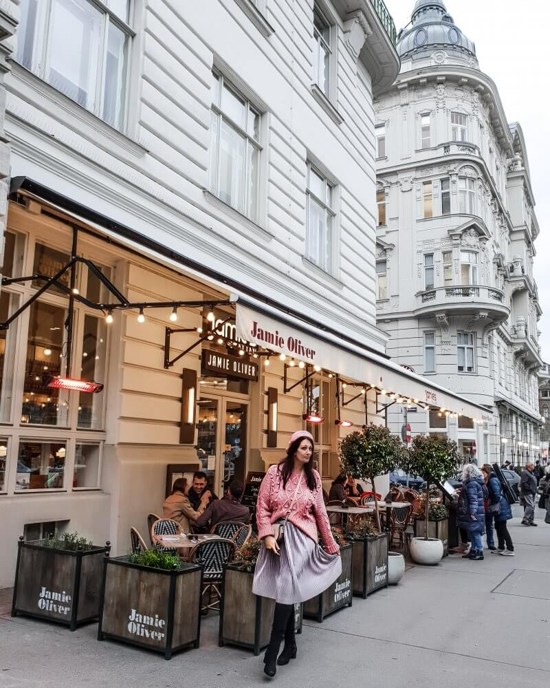My Top 5 things to do in Vienna Austria. One of the top 5 things we did was to visit Jamies Italian Vienna.