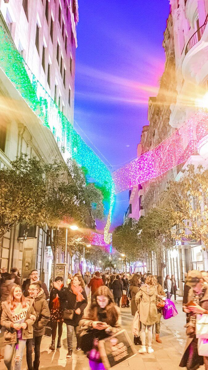 Christmas lights in Madrid. What to do in Madrid during Christmas.